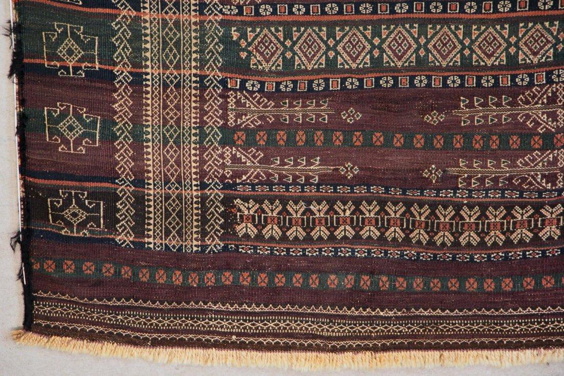 Antique Central Asian Kilim: 3'4'' x 13'1'' (102 x 399 - 2