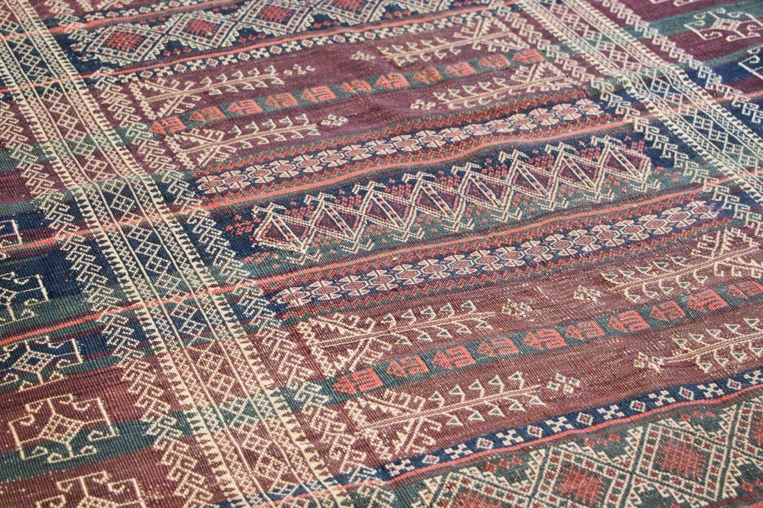 Antique Central Asian Kilim: 3'4'' x 13'1'' (102 x 399 - 3