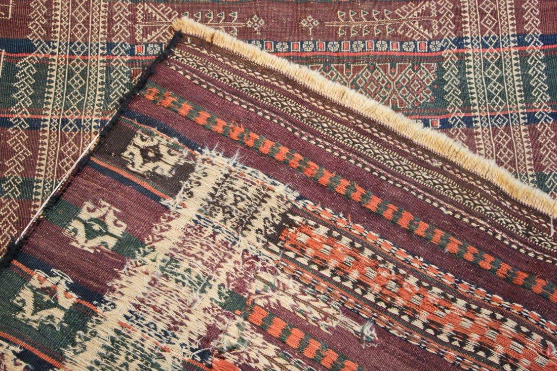 Antique Central Asian Kilim: 3'4'' x 13'1'' (102 x 399 - 4