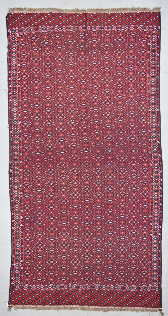 Semi-Antique Yomud Sumak Rug: 6'4'' x 12'3'' (193 x 373