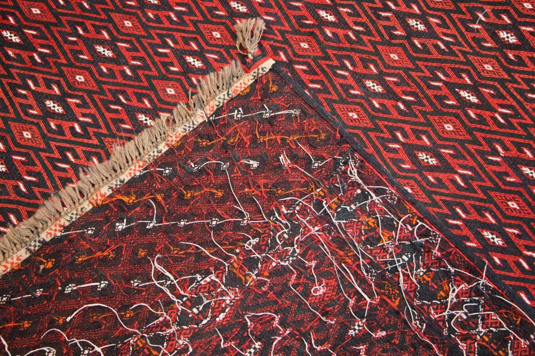 Semi-Antique Yomud Sumak Rug: 6'4'' x 12'3'' (193 x 373 - 4