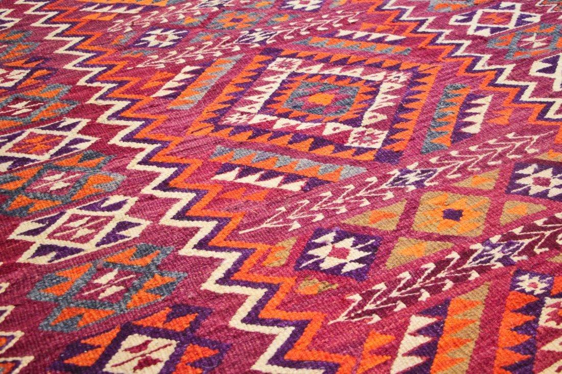 Semi-Antique Central Asian Kilim: 4'7'' x 10'2'' (140 x - 3