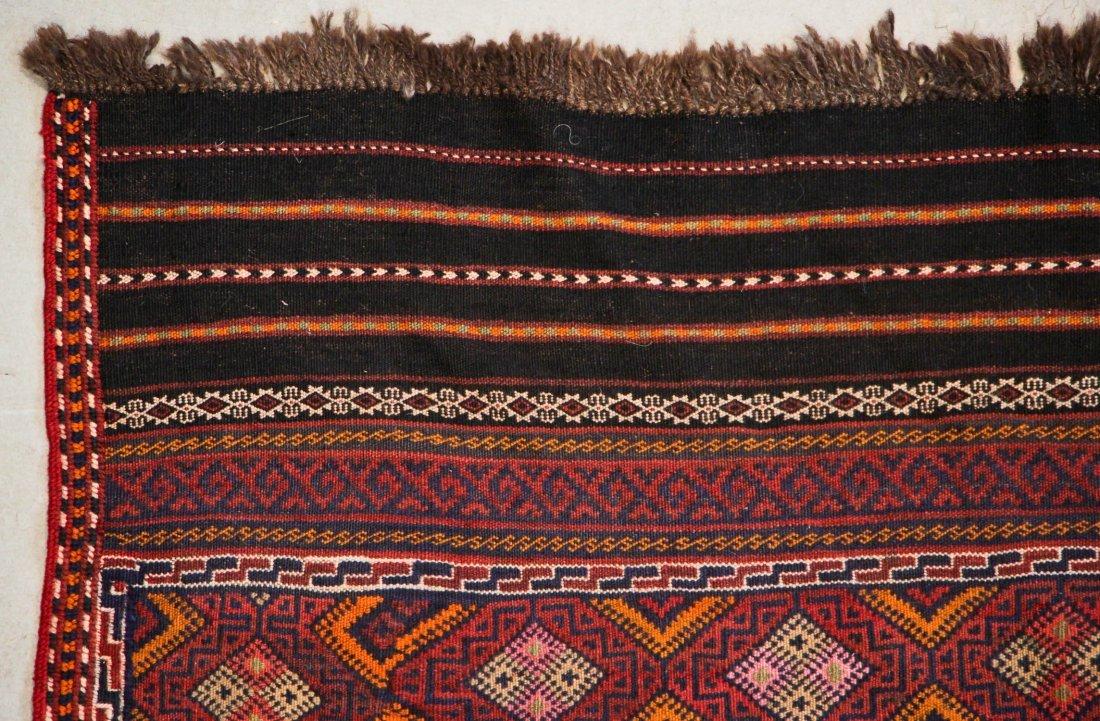 Vintage Afghan Kilim: 5'6'' x 7'5'' (168 x 226 cm) - 2