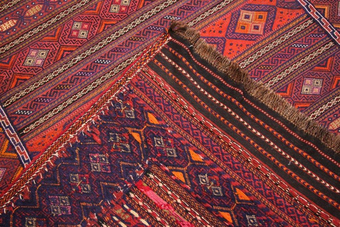 Vintage Afghan Kilim: 5'6'' x 7'5'' (168 x 226 cm) - 4