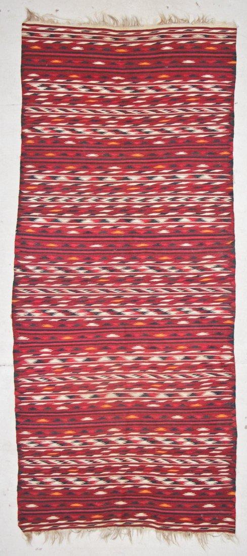 Semi-Antique Central Asian Kilim: 3'9'' x 9'0'' (114 x