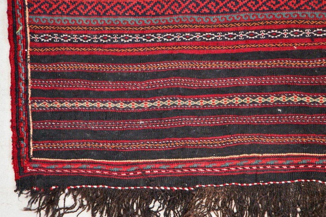 Vintage Afghan Kilim: 6'7'' x 9'3'' (201 x 282 cm) - 2