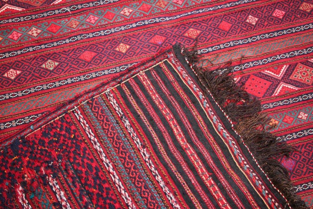 Vintage Afghan Kilim: 6'7'' x 9'3'' (201 x 282 cm) - 4