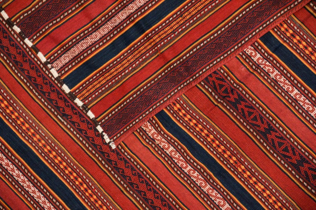 2 Semi-Antique Central Asian Kilims - 4