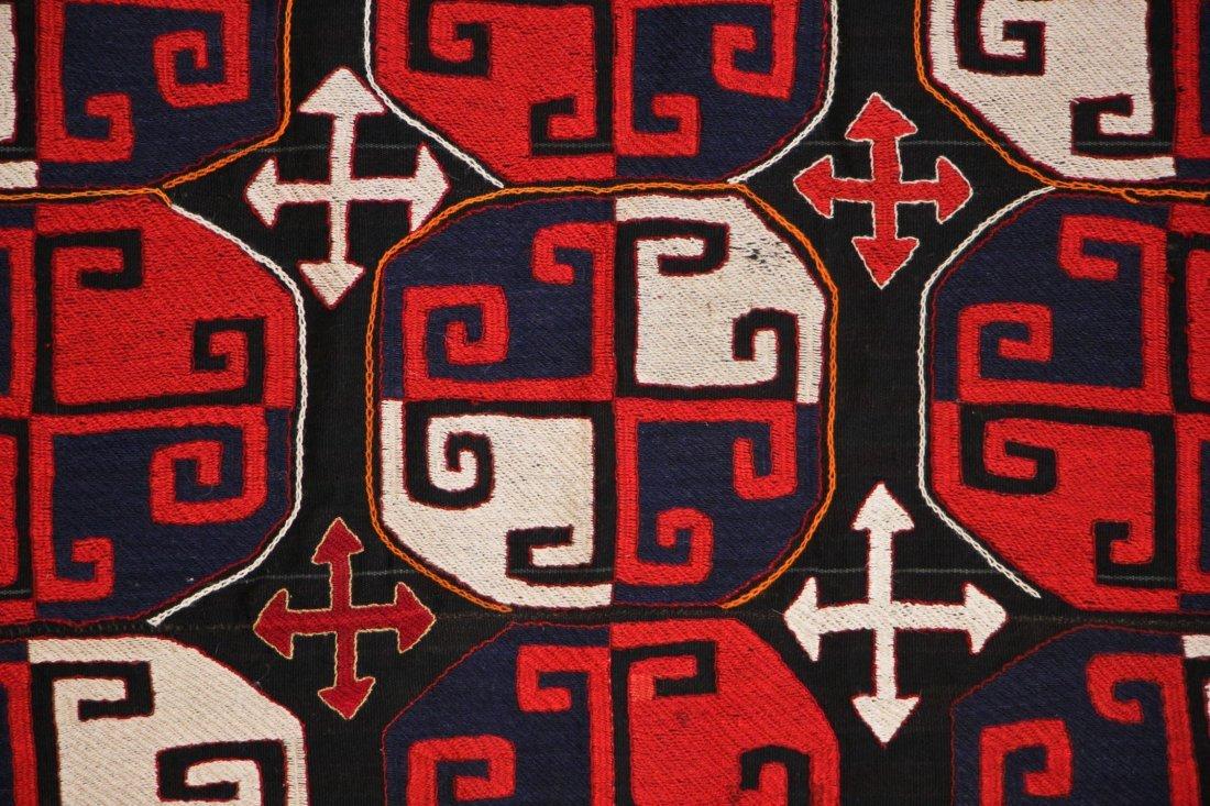 Vintage Central Asian Kilim: 5'0'' x 7'1'' (152 x 216 - 2