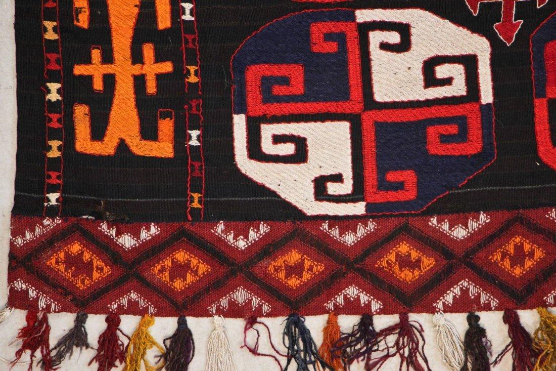Vintage Central Asian Kilim: 5'0'' x 7'1'' (152 x 216 - 3