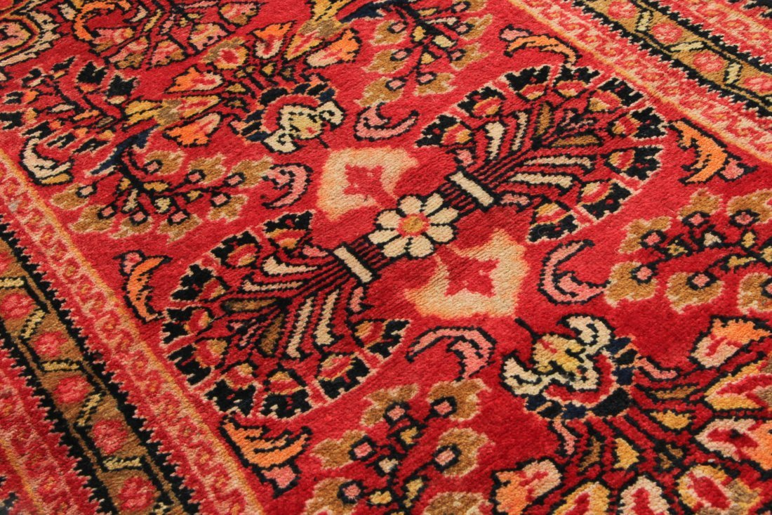 Semi-Antique Hamadan Rug: 2'1'' x 3'6'' (64 x 107 cm) - 3