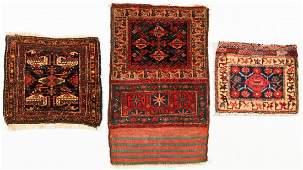 3 Semi-Antique West Persian Bagface Rugs