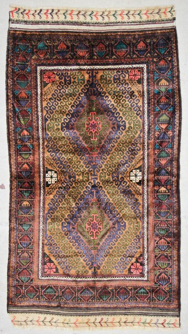 Vintage Beluch Rug: 4'2'' x 6'6'' (127 x 198 cm)