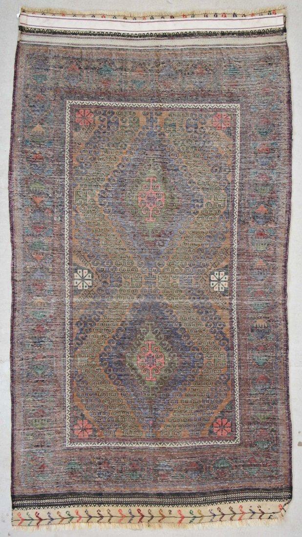 Vintage Beluch Rug: 4'2'' x 6'6'' (127 x 198 cm) - 6
