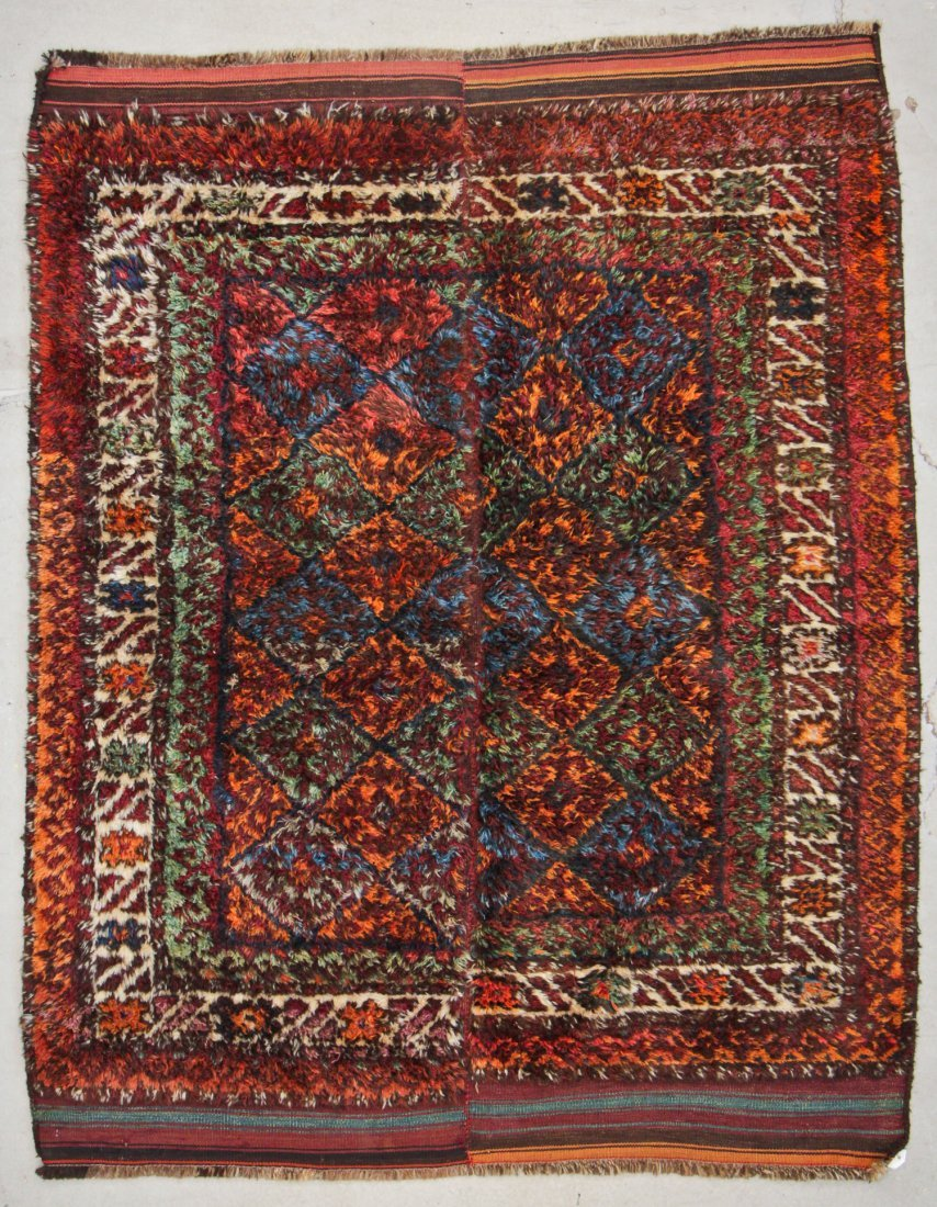 Semi-Antique Kazakh Rug: 5'3'' x 5'9'' (160 x 175 cm)