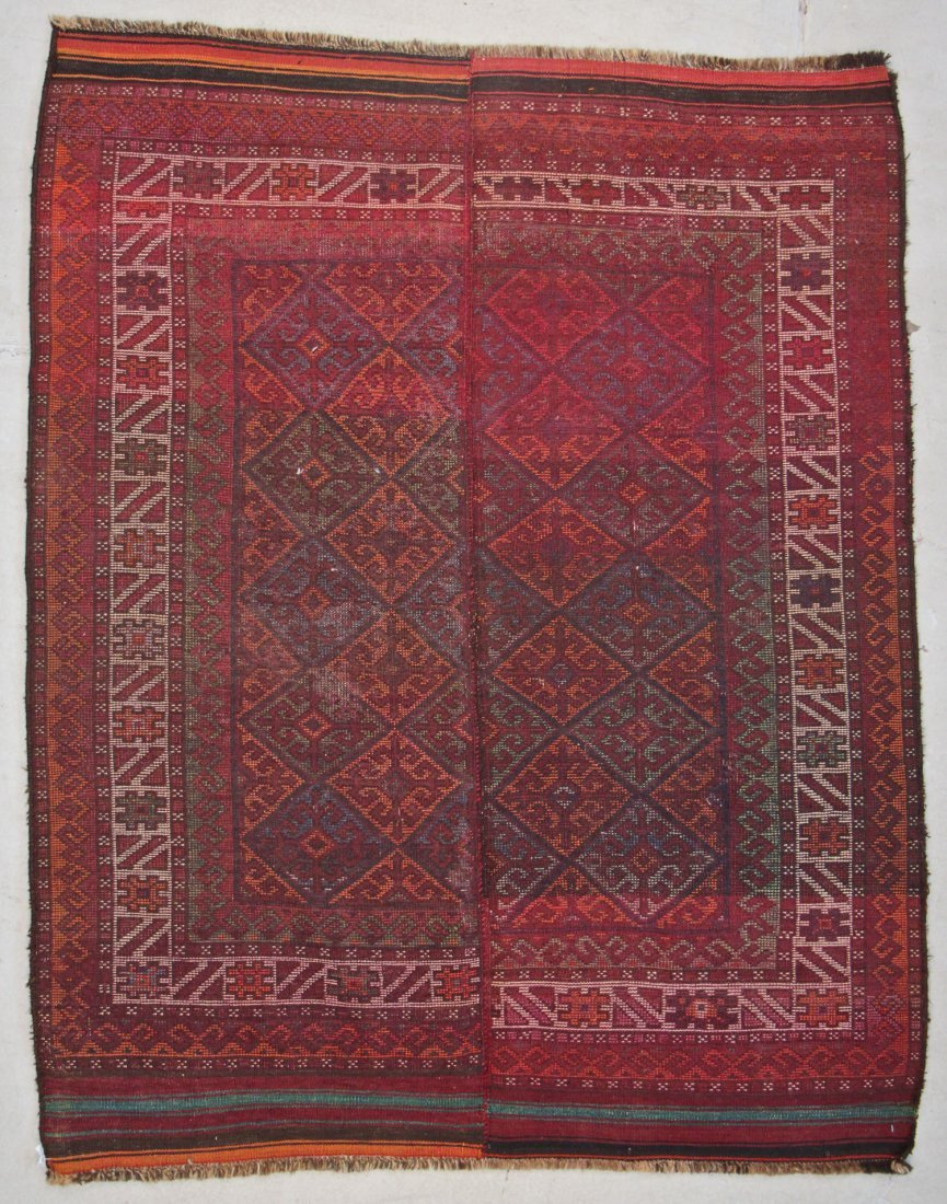 Semi-Antique Kazakh Rug: 5'3'' x 5'9'' (160 x 175 cm) - 8
