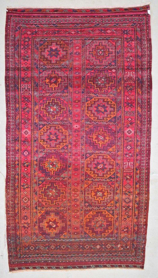 Vintage Central Asian Rug: 4'9'' x 8'4'' (145 x 254 cm) - 7