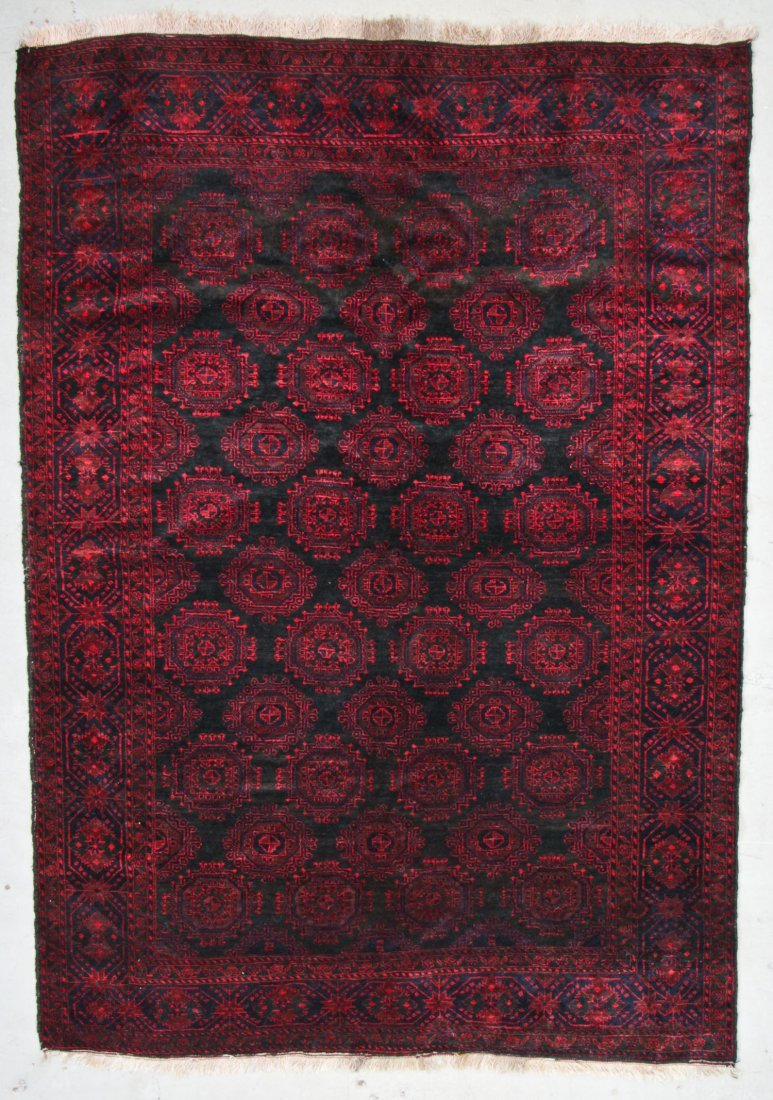 Semi-Antique Beluch Rug: 6'3'' x 8'10'' (191 x 269 cm)