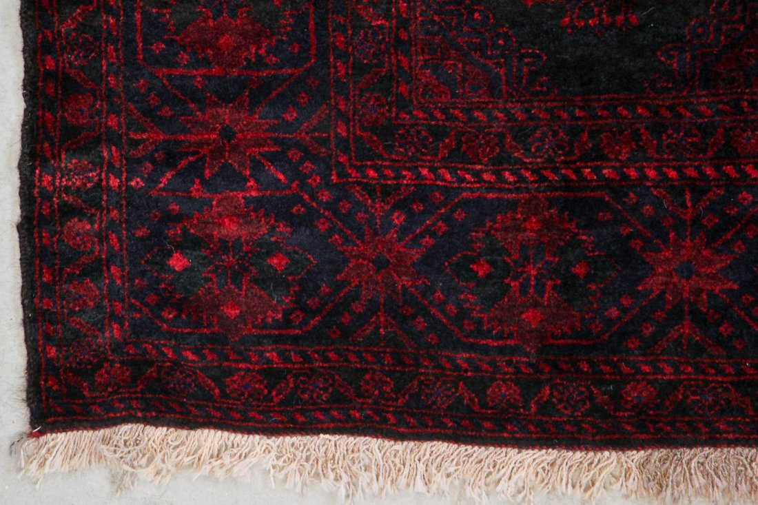 Semi-Antique Beluch Rug: 6'3'' x 8'10'' (191 x 269 cm) - 2