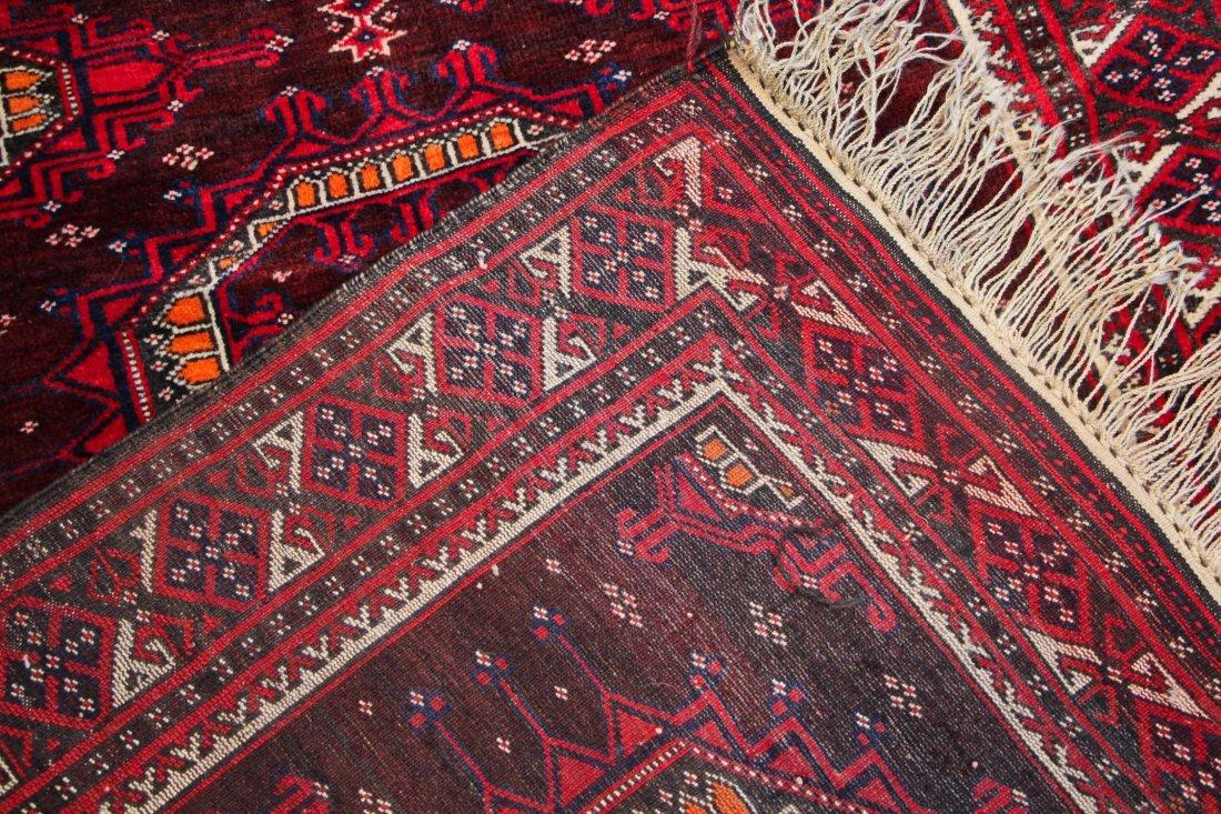 Vintage Turkmen Rug: 3'11'' x 6'0'' (119 x 183 cm) - 4