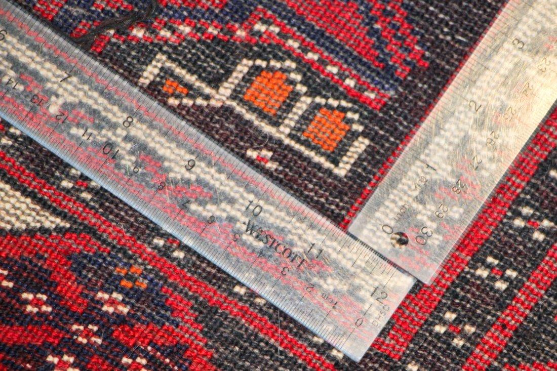 Vintage Turkmen Rug: 3'11'' x 6'0'' (119 x 183 cm) - 5