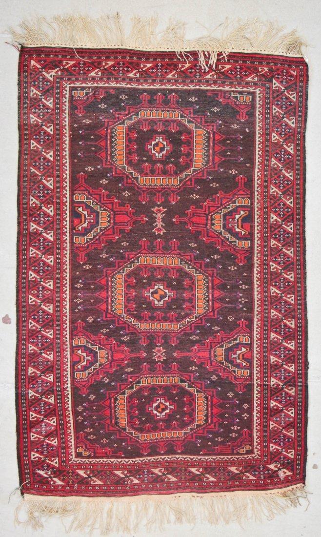 Vintage Turkmen Rug: 3'11'' x 6'0'' (119 x 183 cm) - 6
