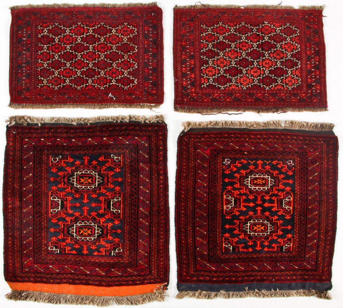 4 Semi-Antique Turkmen Rugs, Central Asia