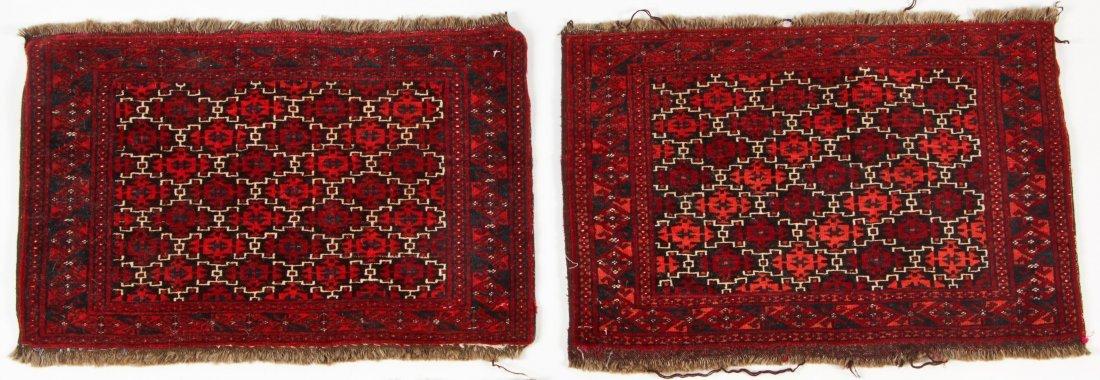 4 Semi-Antique Turkmen Rugs, Central Asia - 2