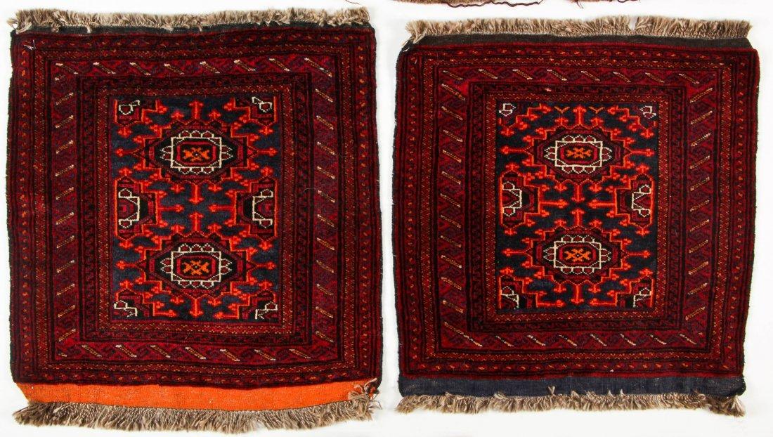4 Semi-Antique Turkmen Rugs, Central Asia - 4