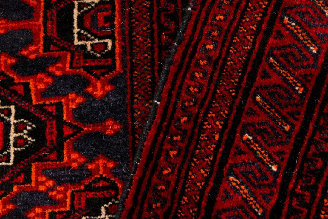 4 Semi-Antique Turkmen Rugs, Central Asia - 5