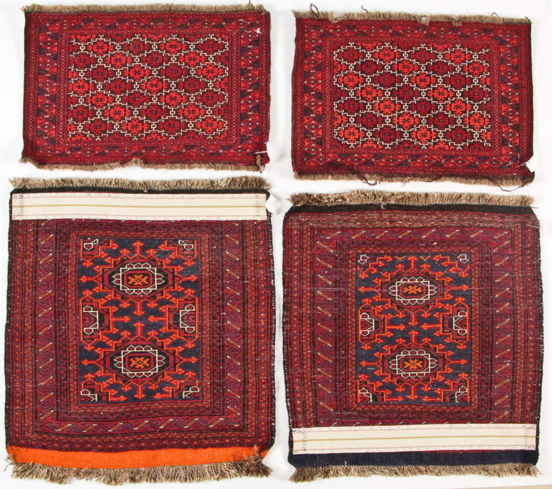 4 Semi-Antique Turkmen Rugs, Central Asia - 6