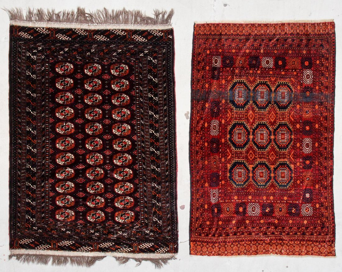 2 Semi-Antique Turkmen Rugs