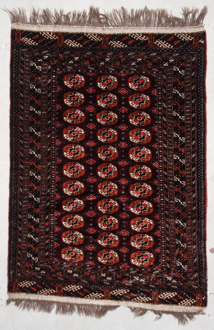 2 Semi-Antique Turkmen Rugs - 2