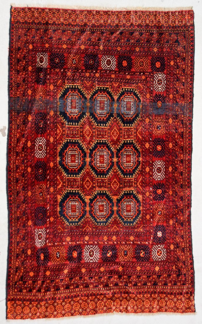 2 Semi-Antique Turkmen Rugs - 3