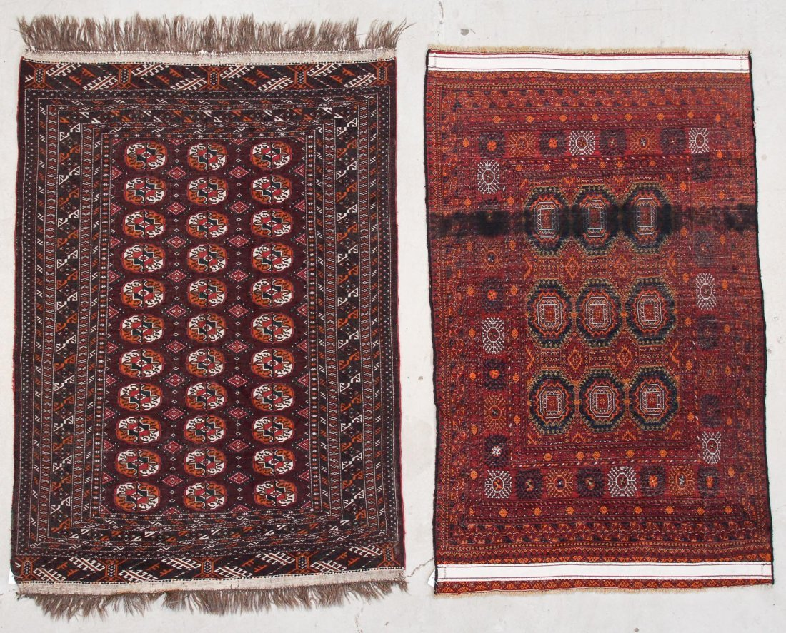 2 Semi-Antique Turkmen Rugs - 5