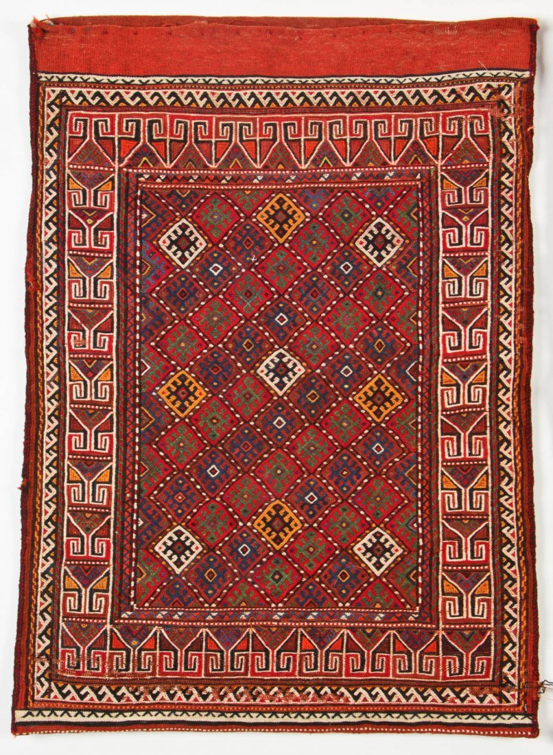 Pair of Semi-Antique Central Asian Sumak Rugs - 2