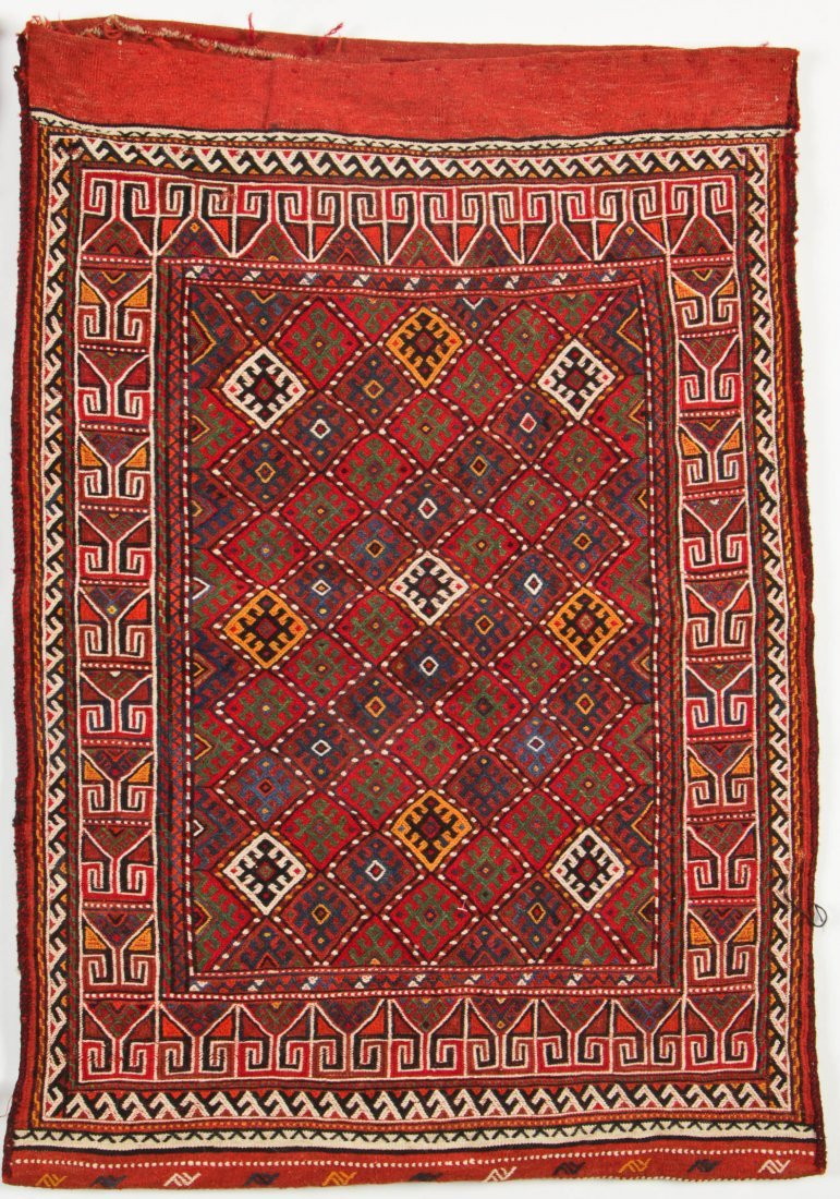 Pair of Semi-Antique Central Asian Sumak Rugs - 3