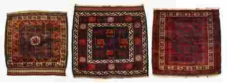 3 Vintage Afghan Beluch Rugs/Bagfaces