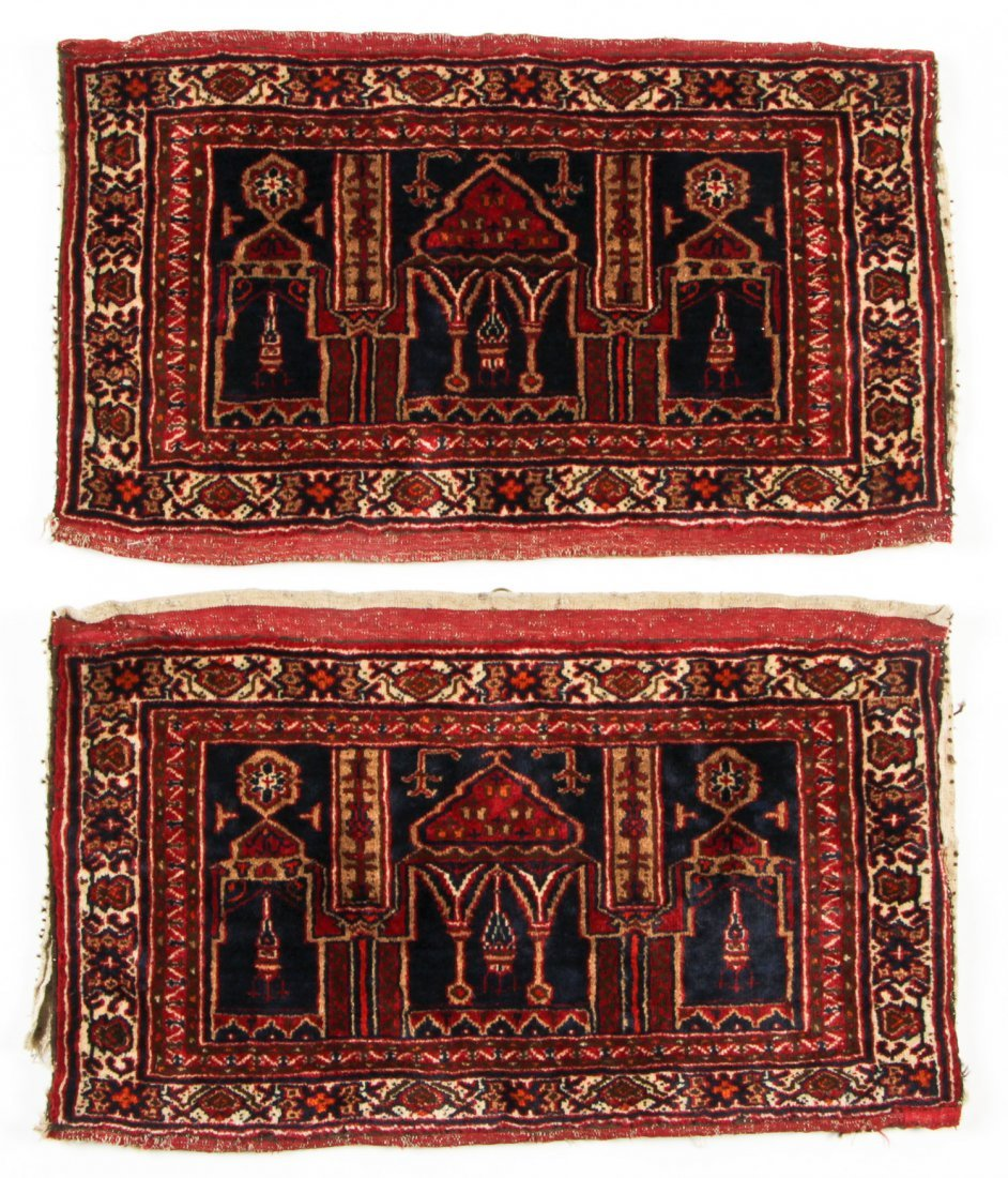 Pair of Semi-Antique Afghan Rugs
