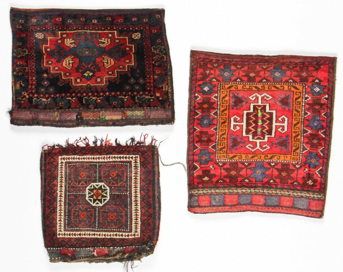3 Vintage Afghan Rugs/Bagfaces