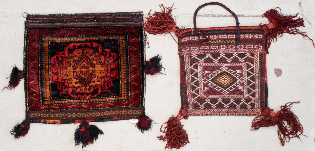 5 Old Central Asian and Persian Rugs/Trappings - 3