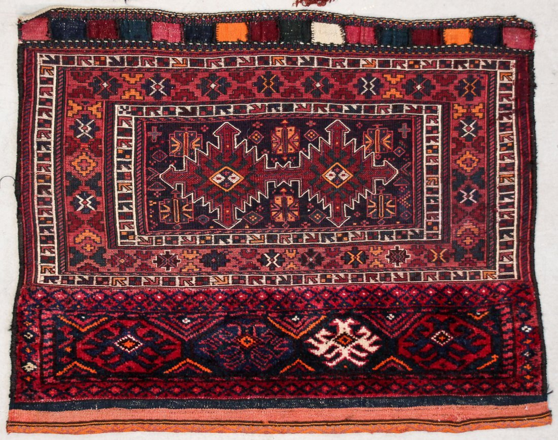 5 Old Central Asian and Persian Rugs/Trappings - 4
