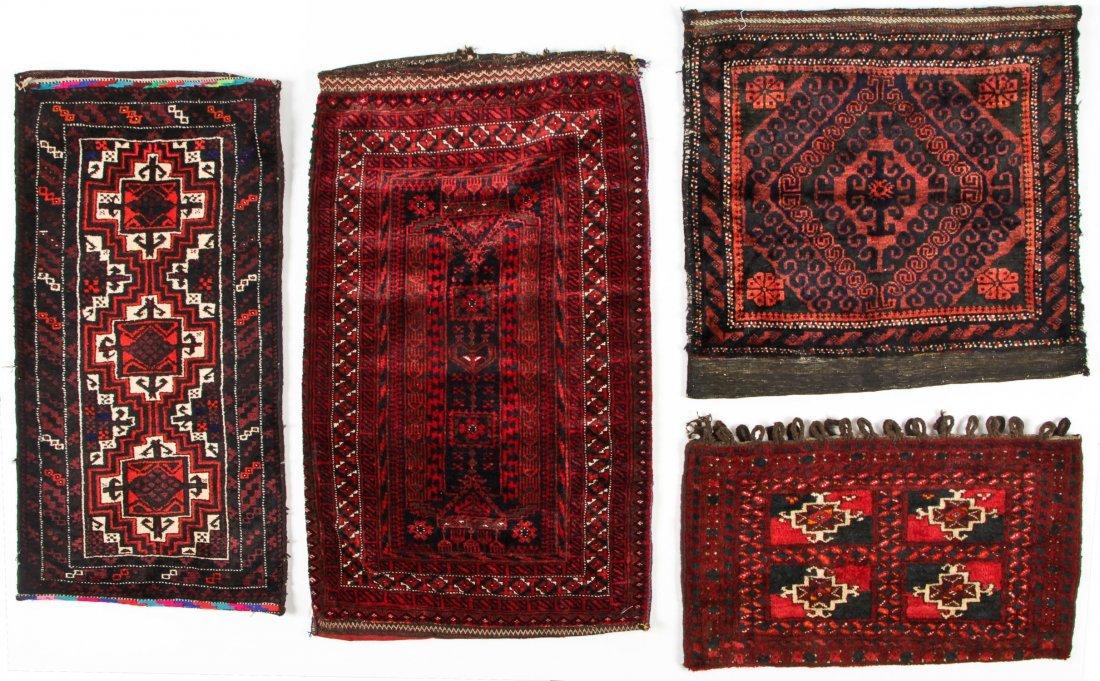 4 Semi-Antique Beluch Rugs, Afghanistan