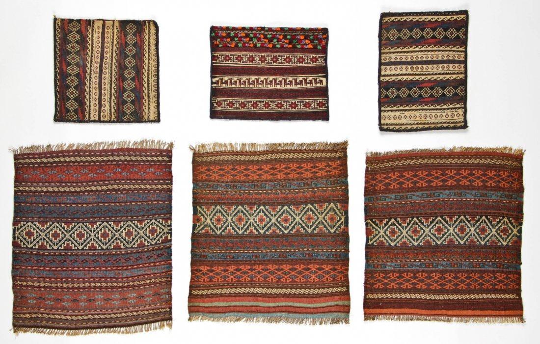 6 Semi-Antique Central Asian Kilims