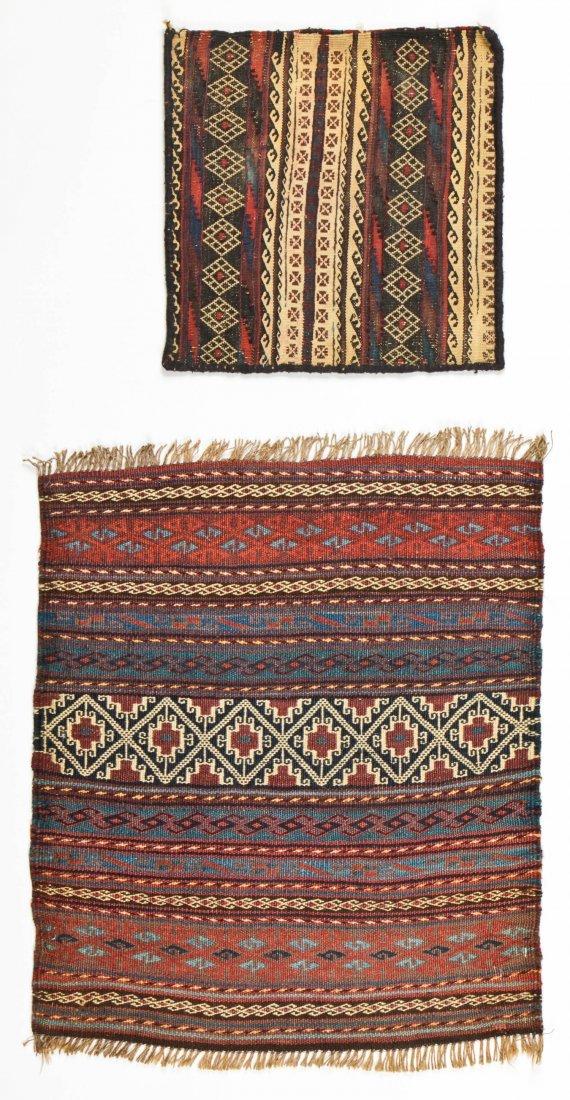 6 Semi-Antique Central Asian Kilims - 2