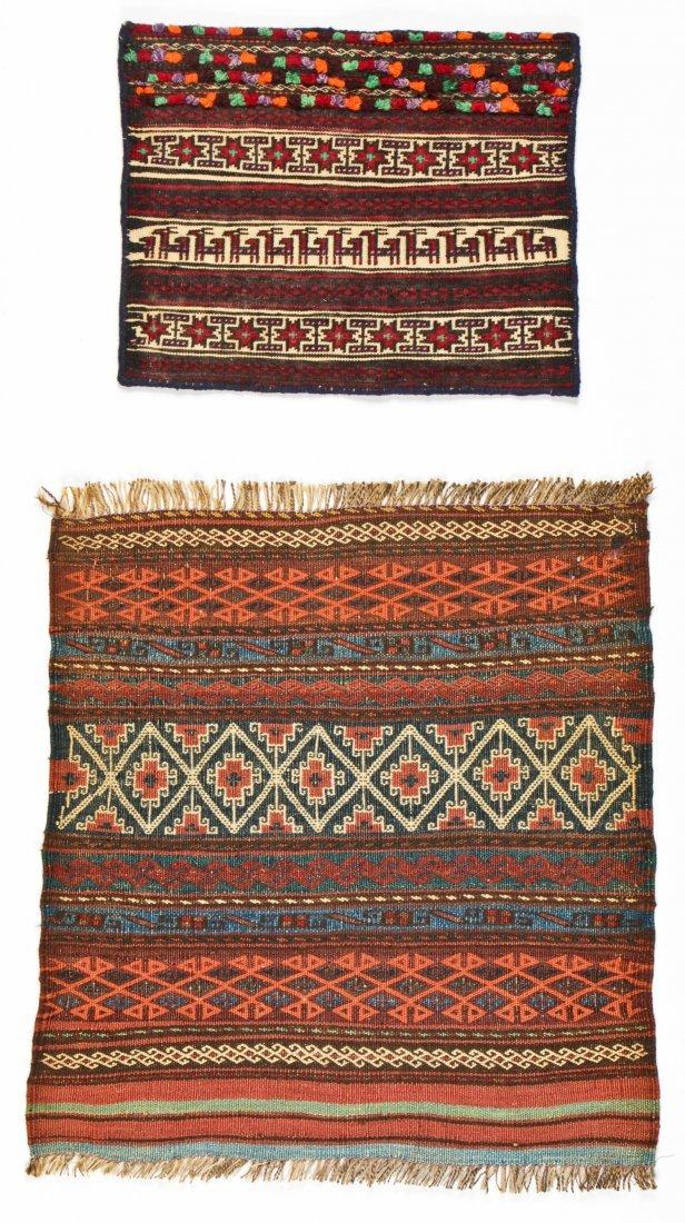 6 Semi-Antique Central Asian Kilims - 3