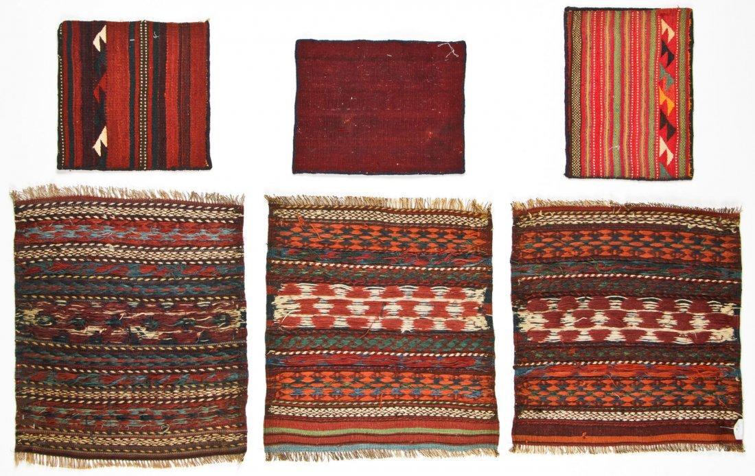6 Semi-Antique Central Asian Kilims - 5