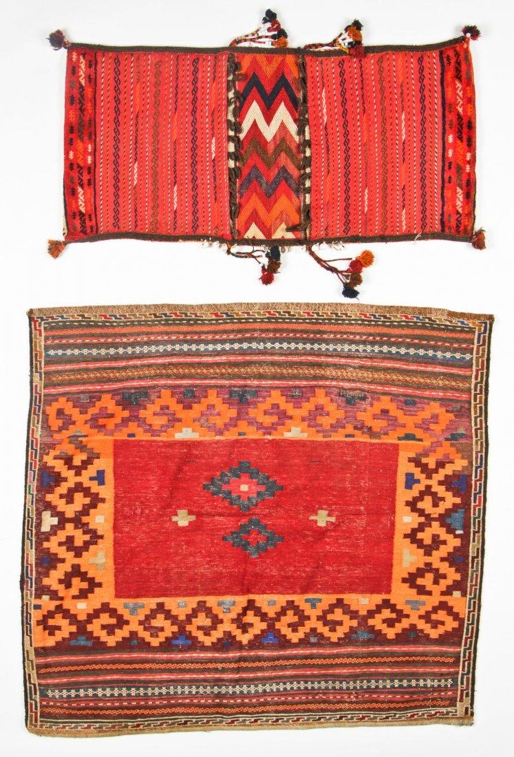 2 Semi-Antique Central Asian Kilims