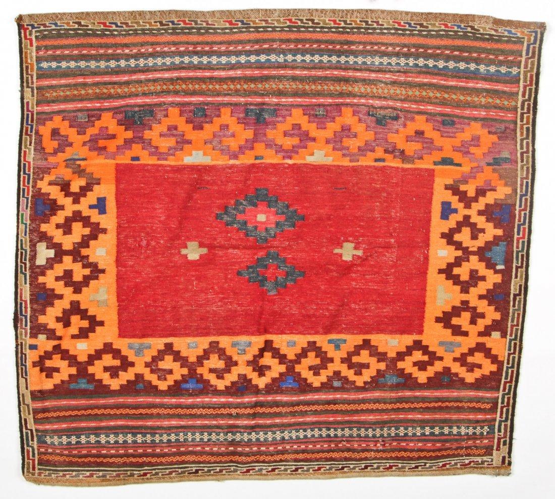 2 Semi-Antique Central Asian Kilims - 3