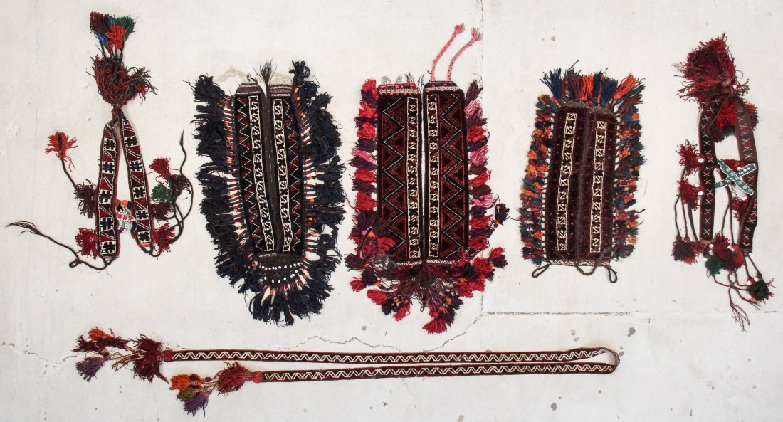6 Vintage Central Asian Trappings